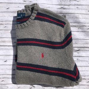 Men's Polo Ralph Lauren Striped Sweater Sz M